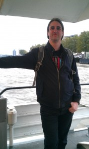 Alister on a Water taxi, Rotterdam, 2013